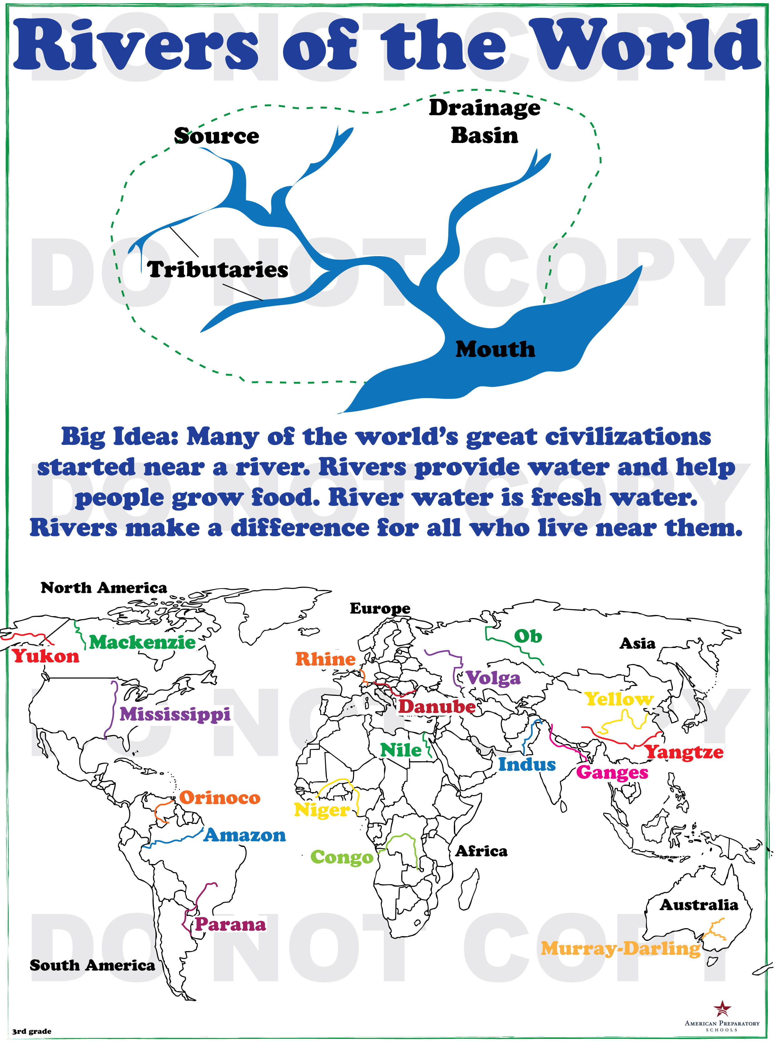 Rivers of the World 3rd Grade