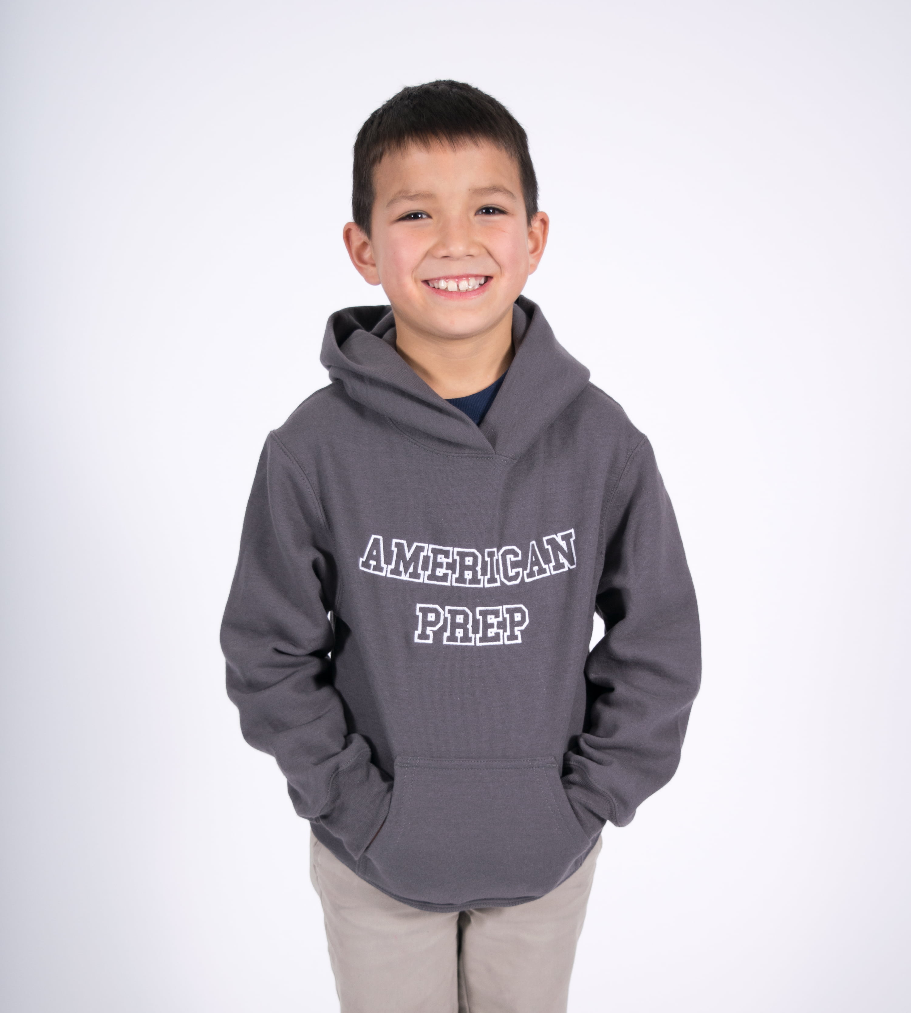 Gray Embroidered Hoodie - UT