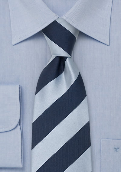 9th-12th Navy and Light Blue Striped Tie - UT