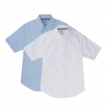 Short Sleeve Oxford Shirt - White OR Light Blue
